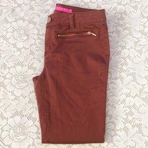 Tinseltown Burgundy Women's Pants